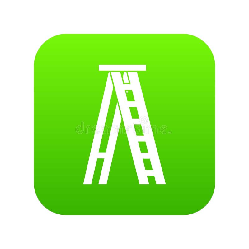 Ψηφιακός πράσινος εικονιδίων Stepladder διανυσματική απεικόνιση
