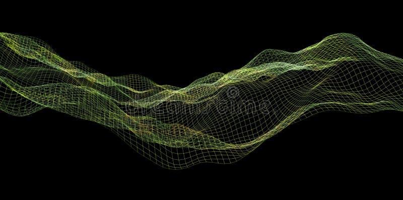 Ψηφιακός πράσινος κυματισμός κυμάτων υποβάθρου αφηρημένος στοκ φωτογραφίες με δικαίωμα ελεύθερης χρήσης