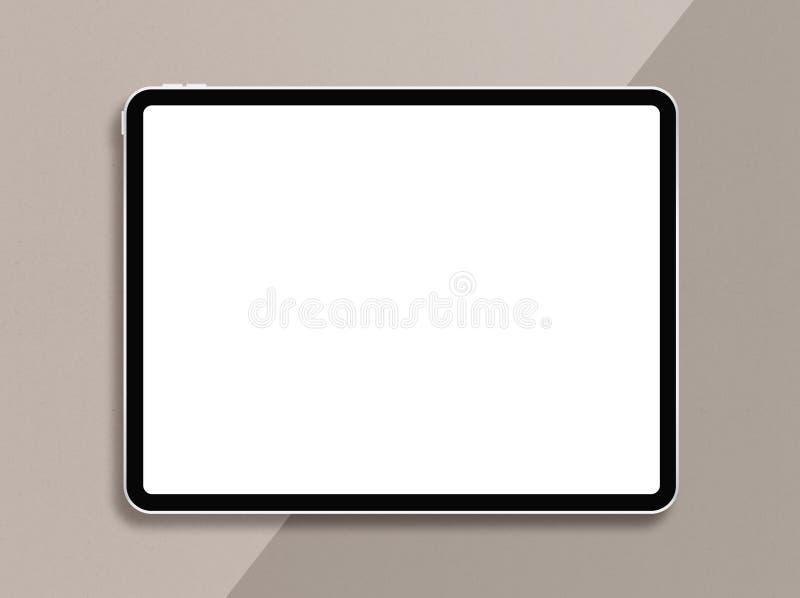 Ψηφιακός υπολογιστής ταμπλετών με την κενή οθόνη Σύγχρονη φωτογραφία προτύπων ταμπλετών διανυσματική απεικόνιση