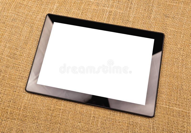 Ψηφιακός υπολογιστής ταμπλετών με την κενή άσπρη οθόνη στοκ φωτογραφία