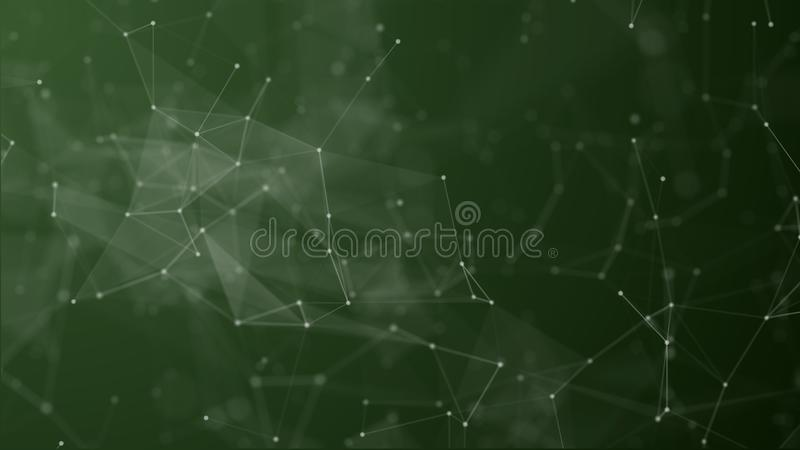 Ψηφιακός φουτουριστικός της σύνδεσης σημείων και γραμμών ελεύθερη απεικόνιση δικαιώματος
