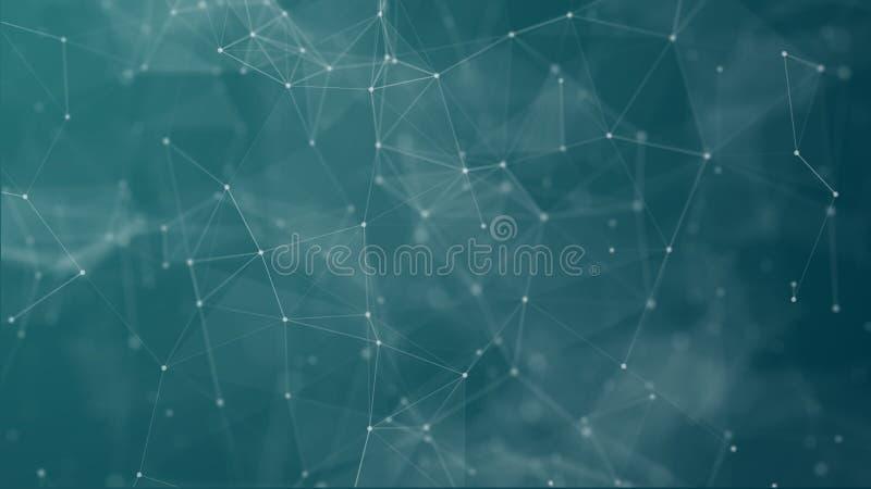 Ψηφιακός φουτουριστικός των σημείων και της σύνδεσης γραμμών απεικόνιση αποθεμάτων