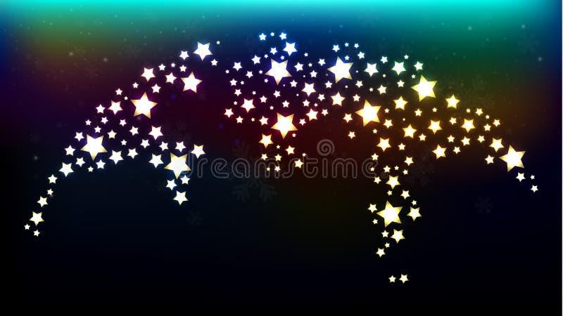 Ψηφιακός χάρτης του κόσμου με τη λαμπρή σύσταση αστεριών ελεύθερη απεικόνιση δικαιώματος