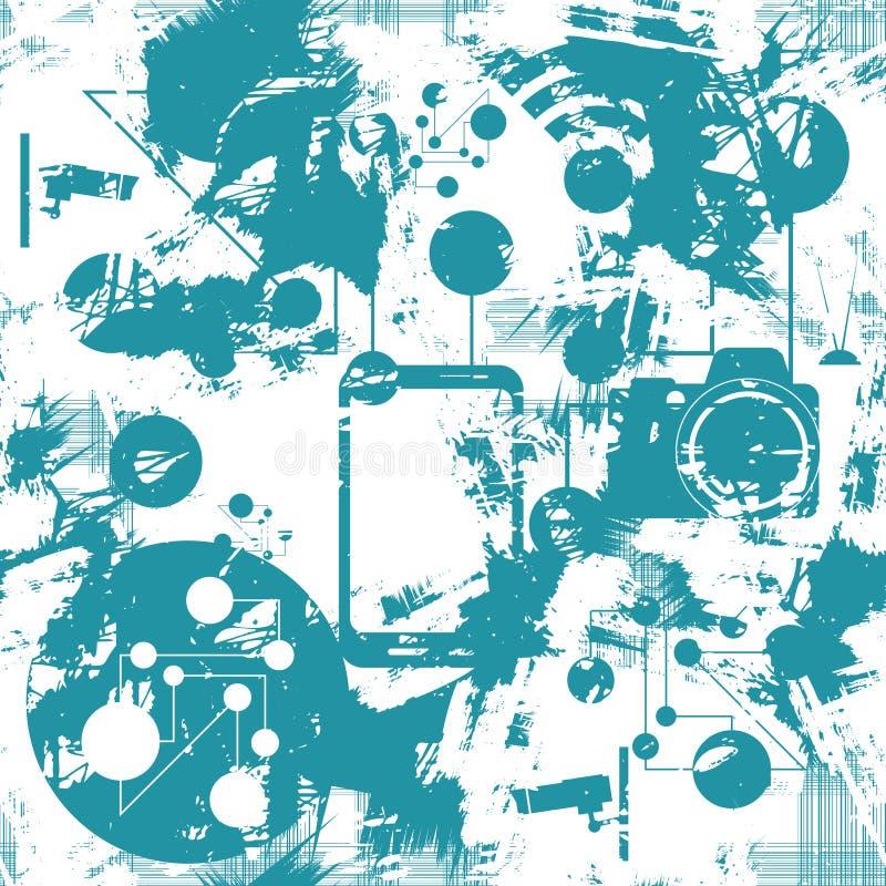 Ψηφιακό άνευ ραφής σχέδιο διάνυσμα διανυσματική απεικόνιση