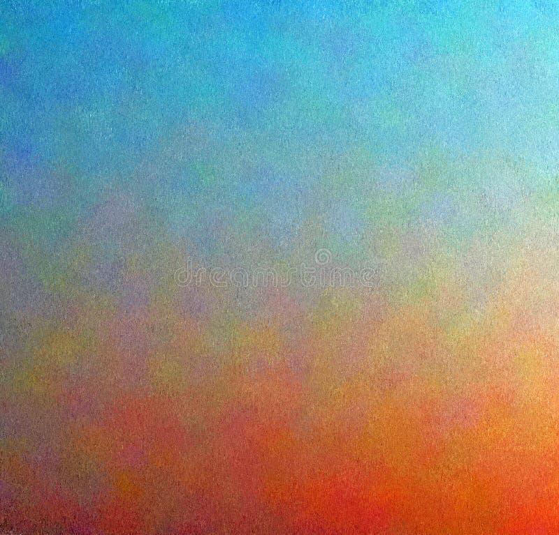Ψηφιακό αφηρημένο ζωηρόχρωμο υπόβαθρο ζωγραφικής σε Aqua μπλε και πορτοκαλί με το πολυστρωματικό χρώμα διανυσματική απεικόνιση