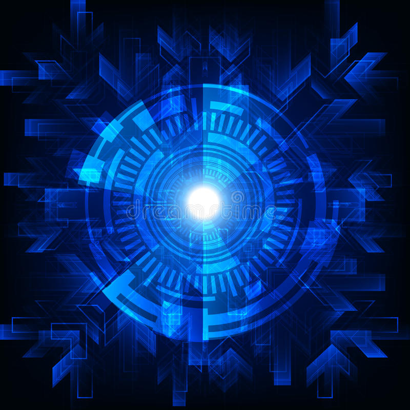 Ψηφιακό αφηρημένο υπόβαθρο έννοιας τεχνολογίας επίσης corel σύρετε το διάνυσμα απεικόνισης διανυσματική απεικόνιση