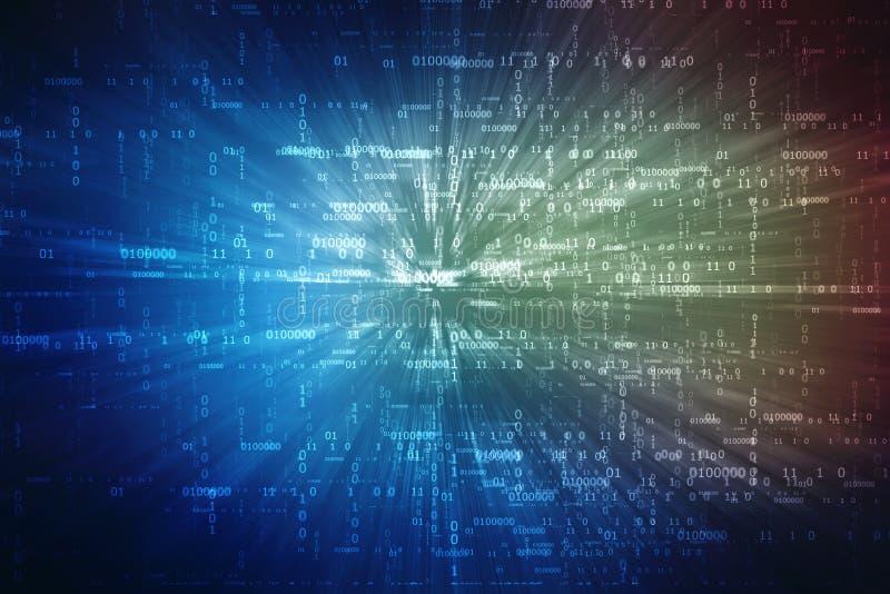 Ψηφιακό αφηρημένο υπόβαθρο τεχνολογίας, δυαδικό υπόβαθρο, φουτουριστικό υπόβαθρο, έννοια κυβερνοχώρου ελεύθερη απεικόνιση δικαιώματος