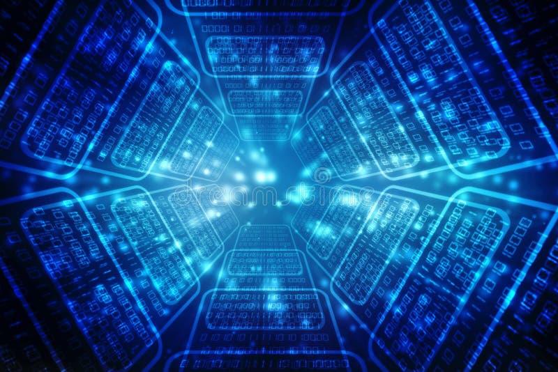 Ψηφιακό αφηρημένο υπόβαθρο τεχνολογίας, φουτουριστικό υπόβαθρο ελεύθερη απεικόνιση δικαιώματος
