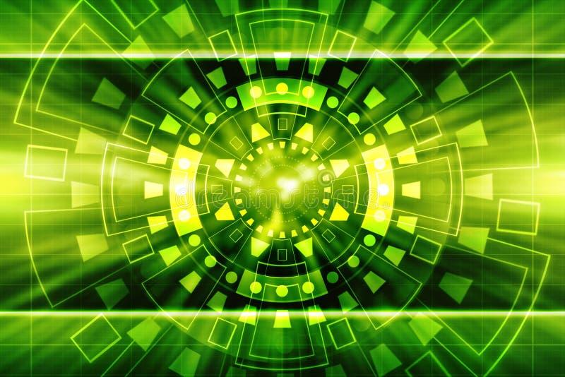 Ψηφιακό αφηρημένο υπόβαθρο τεχνολογίας, φουτουριστικό υπόβαθρο διανυσματική απεικόνιση