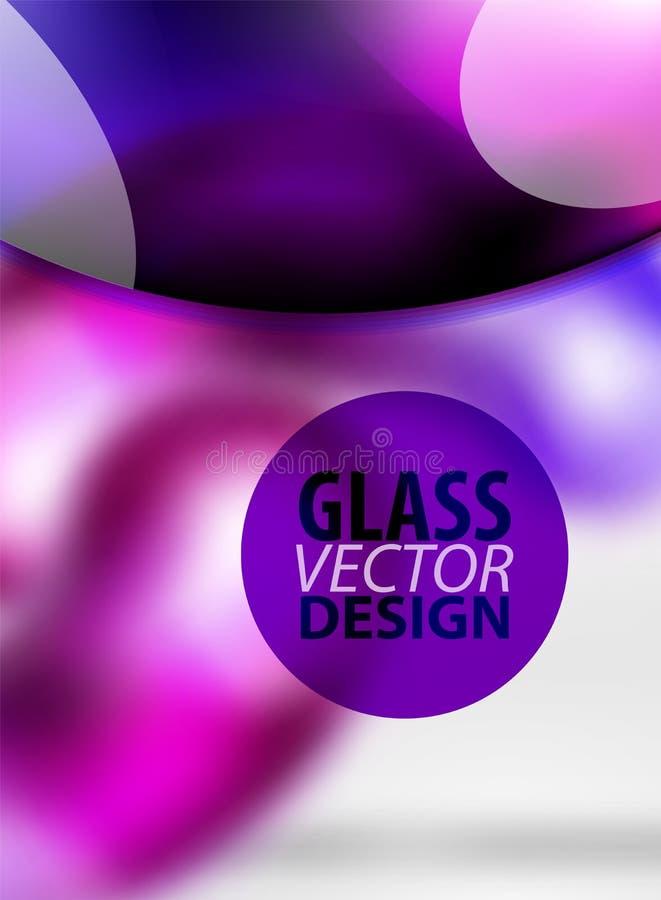 Ψηφιακό αφηρημένο υπόβαθρο techno, γκρίζο τρισδιάστατο διάστημα με τη curvy φυσαλίδα γυαλιού απεικόνιση αποθεμάτων