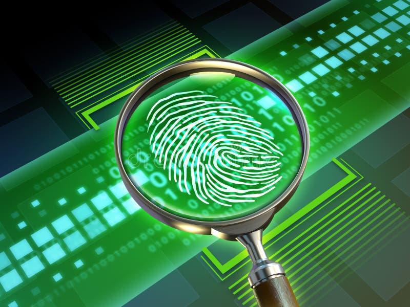 Ψηφιακό δακτυλικό αποτύπωμα απεικόνιση αποθεμάτων