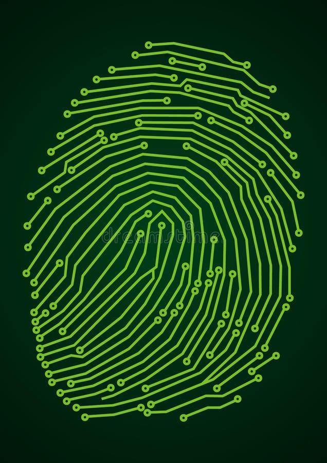 ψηφιακό δακτυλικό αποτύπ&omeg διανυσματική απεικόνιση