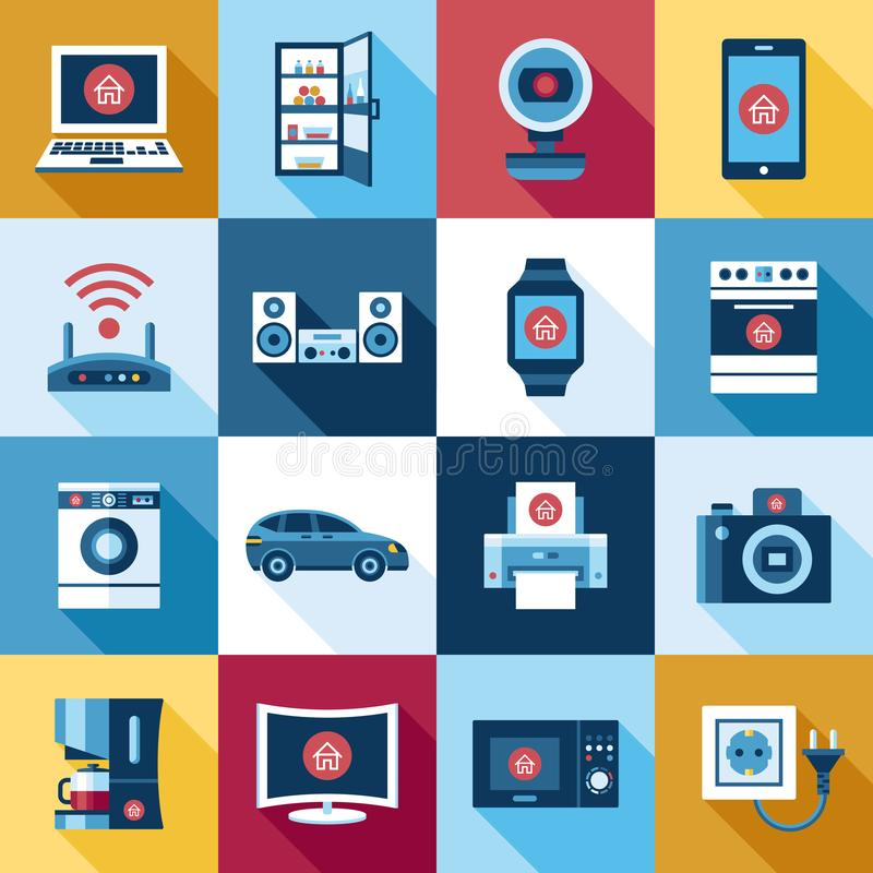 Ψηφιακό διανυσματικό πετώντας Διαδίκτυο της έννοιας πραγμάτων διανυσματική απεικόνιση