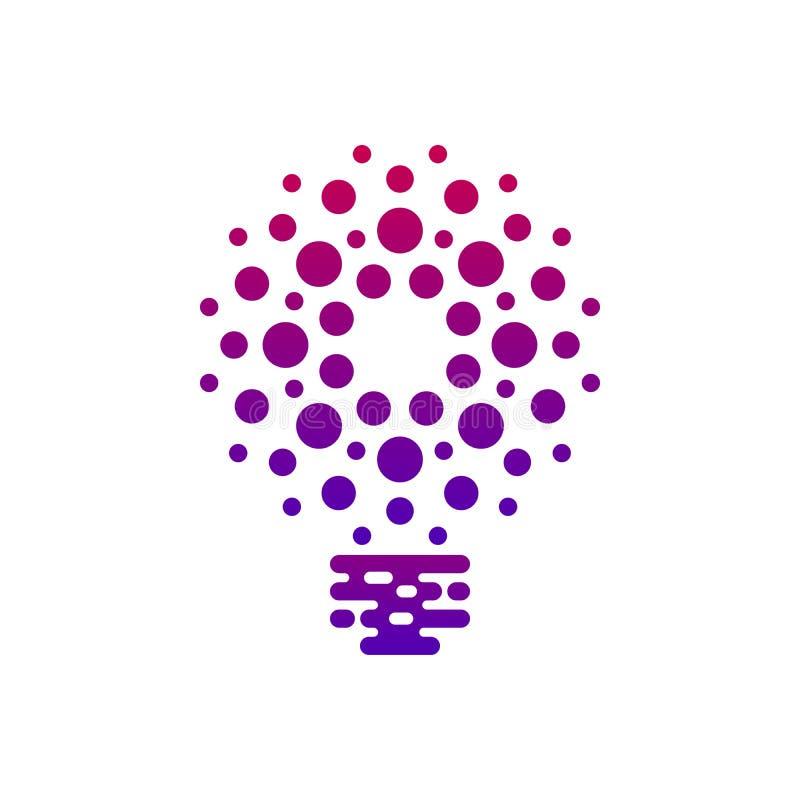 Ψηφιακό εικονίδιο βολβών με τα σημεία διανυσματική απεικόνιση