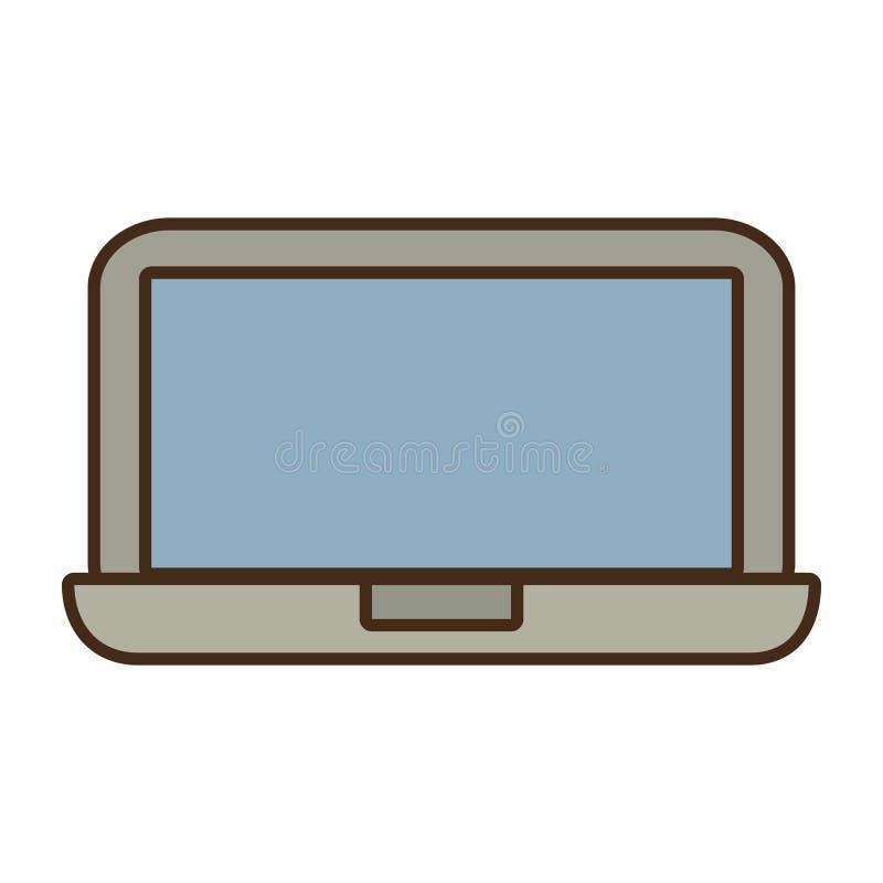 ψηφιακό εικονίδιο τεχνολογίας συσκευών lap-top κινούμενων σχεδίων απεικόνιση αποθεμάτων