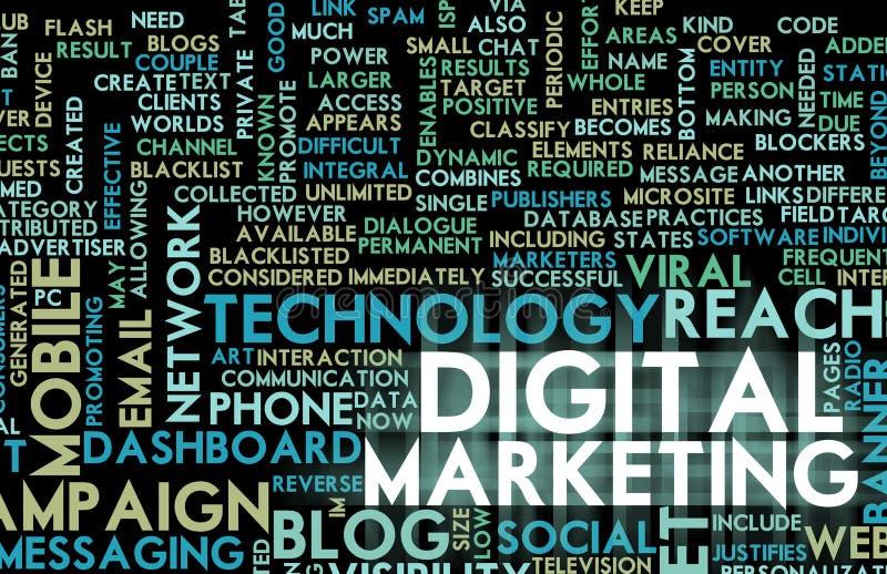 ψηφιακό μάρκετινγκ διανυσματική απεικόνιση