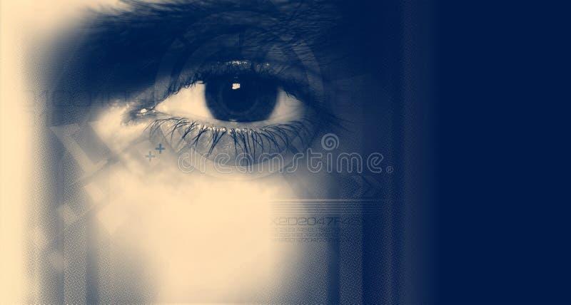 ψηφιακό μάτι ελεύθερη απεικόνιση δικαιώματος