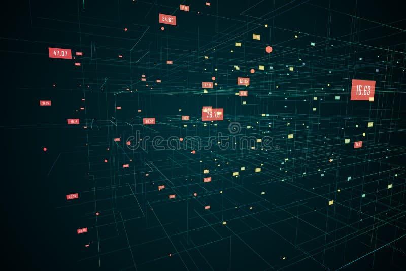Ψηφιακό πλέγμα με τους αριθμούς ελεύθερη απεικόνιση δικαιώματος
