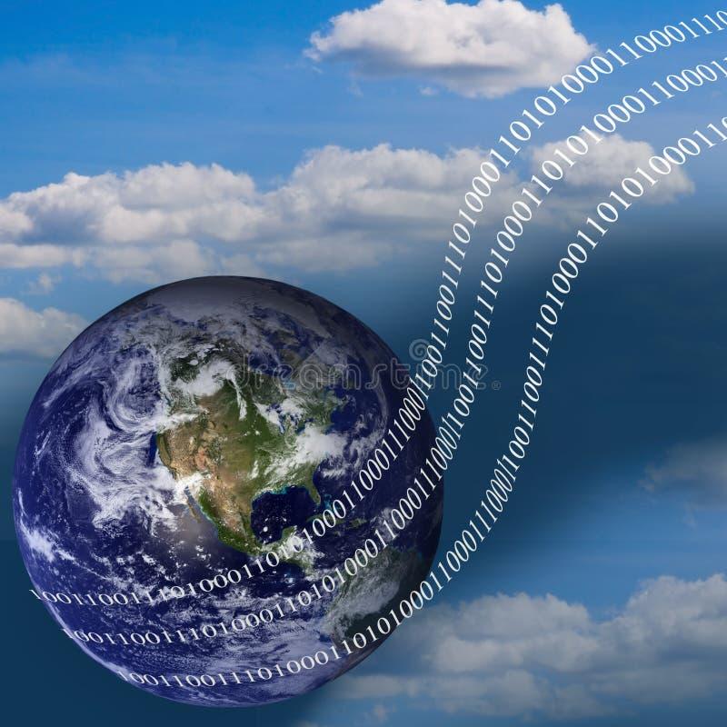 ψηφιακό ρεύμα πλανητών στοκ εικόνα με δικαίωμα ελεύθερης χρήσης