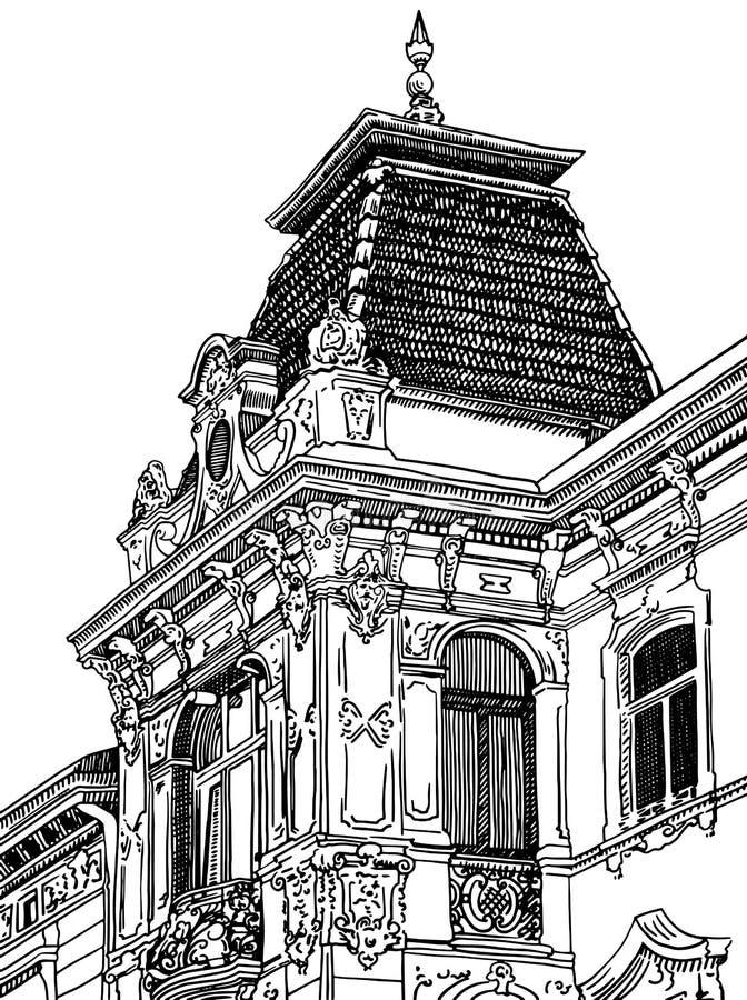 Ψηφιακό σχέδιο Lviv (Ουκρανία) ιστορικό διανυσματική απεικόνιση