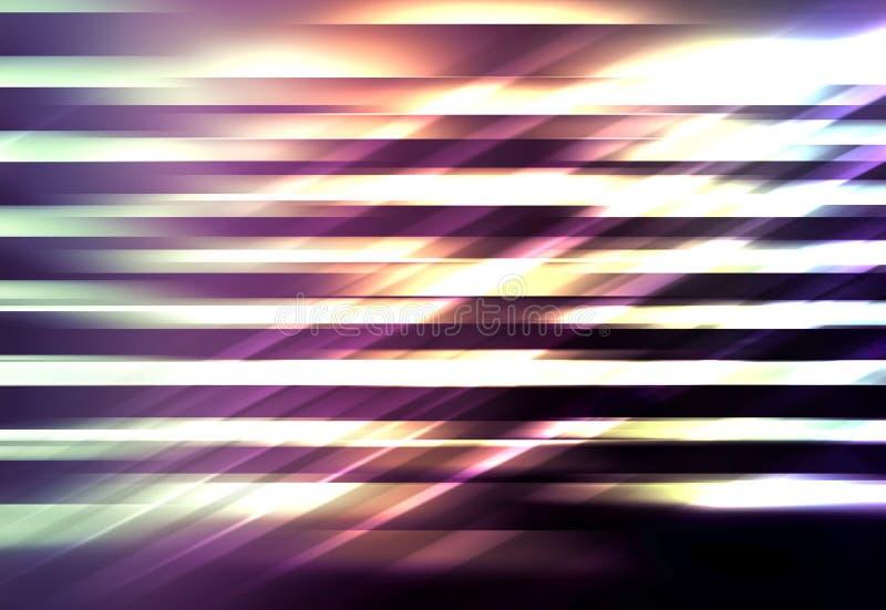 Ψηφιακό υπόβαθρο, λάμποντας ζωηρόχρωμο θολωμένο σχέδιο γραμμών απεικόνιση αποθεμάτων