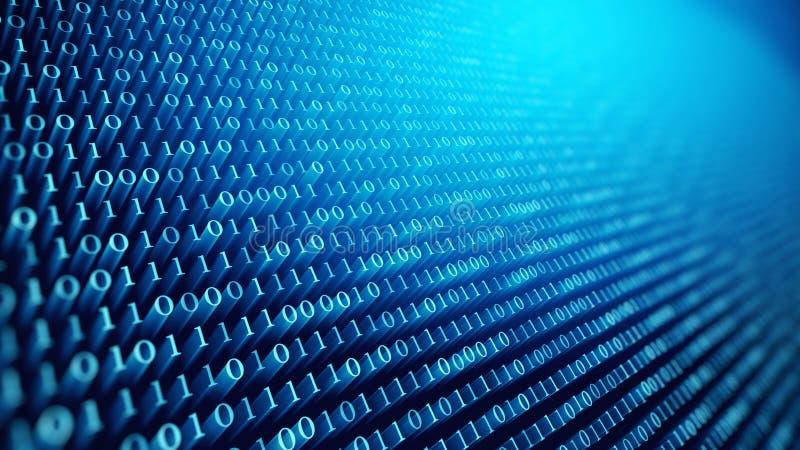 Ψηφιακό υπόβαθρο κώδικα binare ελεύθερη απεικόνιση δικαιώματος