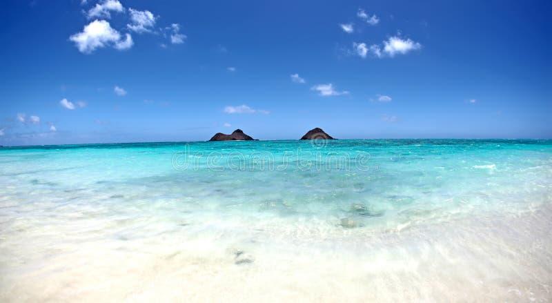 Ψηφιακό υπόβαθρο φωτογραφίας της παραλίας Kailua Χαβάη Lanikai στοκ εικόνες με δικαίωμα ελεύθερης χρήσης