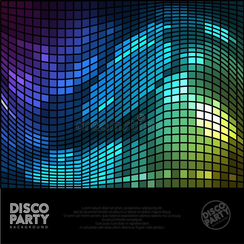 Ψηφιακό υπόβαθρο Disco Αφηρημένο πολύχρωμο υπόβαθρο γεγονότων κομμάτων disco μουσικής ελεύθερη απεικόνιση δικαιώματος