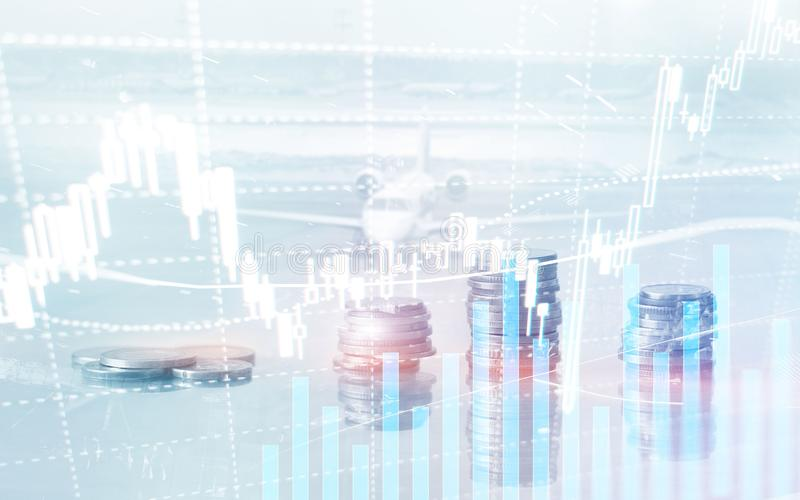 Ψηφιακό χρηματιστήριο Οικονομικό ραβδί κεριών διαγραμμάτων γραφικών παραστάσεων επιχειρησιακού χρηματιστηρίου Εμπορικές συναλλαγέ στοκ φωτογραφίες