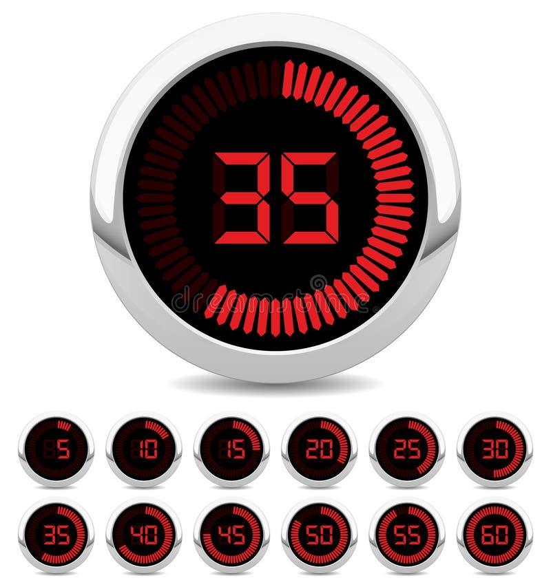 ψηφιακό χρονόμετρο ελεύθερη απεικόνιση δικαιώματος