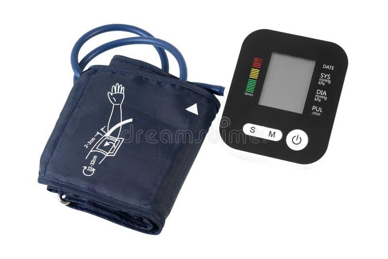 Ψηφιακό όργανο ελέγχου πίεσης του αίματος που απομονώνεται στο λευκό στοκ εικόνα με δικαίωμα ελεύθερης χρήσης