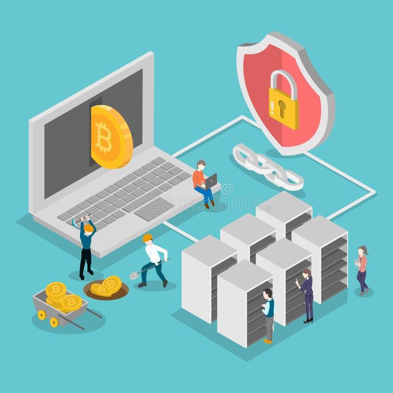 ψηφιακό cryptocurrency isometric απεικόνιση αποθεμάτων