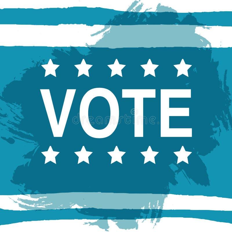 Ψηφοφορία Αφίσα ημέρας εκλογής 2016 ΗΠΑ απεικόνιση αποθεμάτων