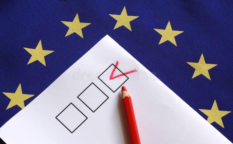 Ψηφοφορία για την Ευρώπη στοκ εικόνες