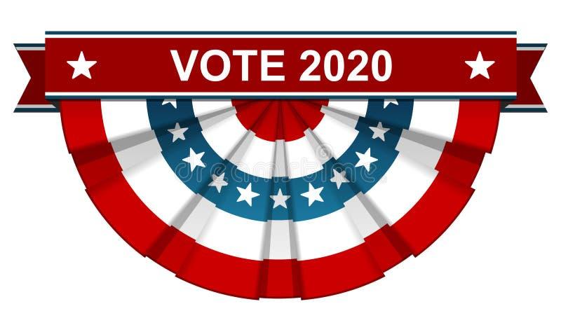 Ψηφοφορία 2020 διανυσματική απεικόνιση