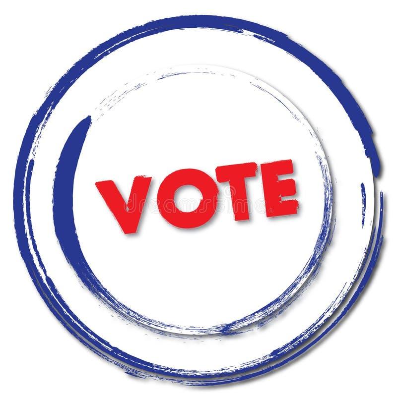 ψηφοφορία γραμματοσήμων απεικόνιση αποθεμάτων