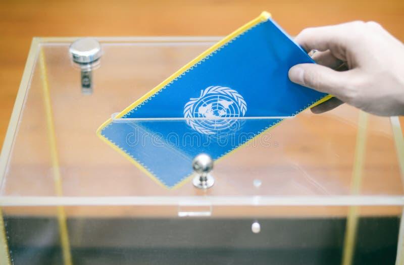 Ψηφοφορία, εκλογές στα Ηνωμένα Έθνη στοκ φωτογραφία με δικαίωμα ελεύθερης χρήσης