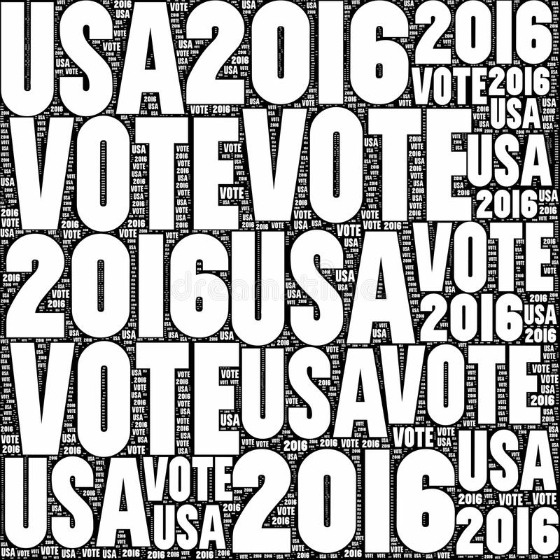 Ψηφοφορία ΗΠΑ 2016 στοκ εικόνες