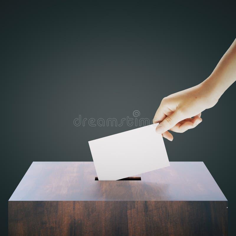 Ψηφοφορία ρίψεων χεριών απεικόνιση αποθεμάτων