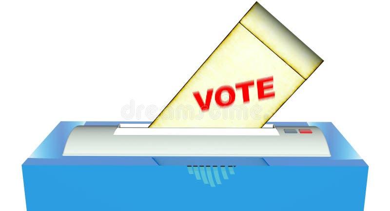 ψηφοφορία διανυσματική απεικόνιση
