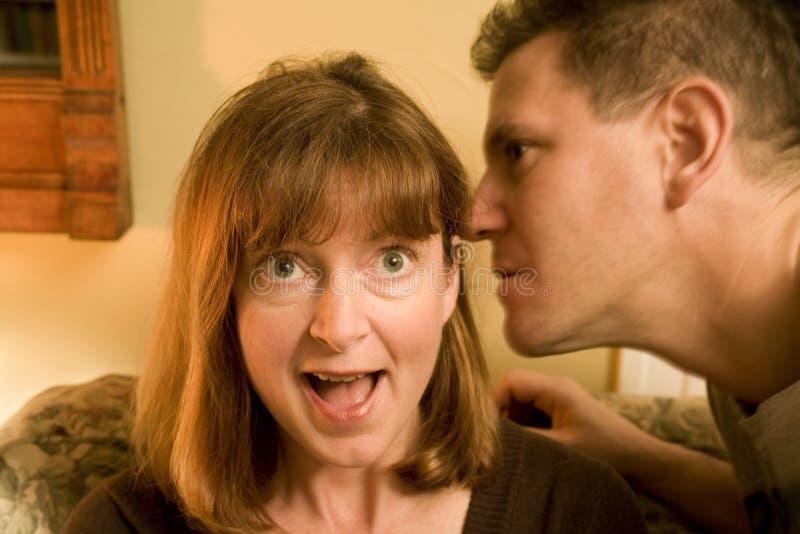 Download ψιθυρίζοντας γυναίκα αν&de στοκ εικόνες. εικόνα από έκπληκτος - 1529076