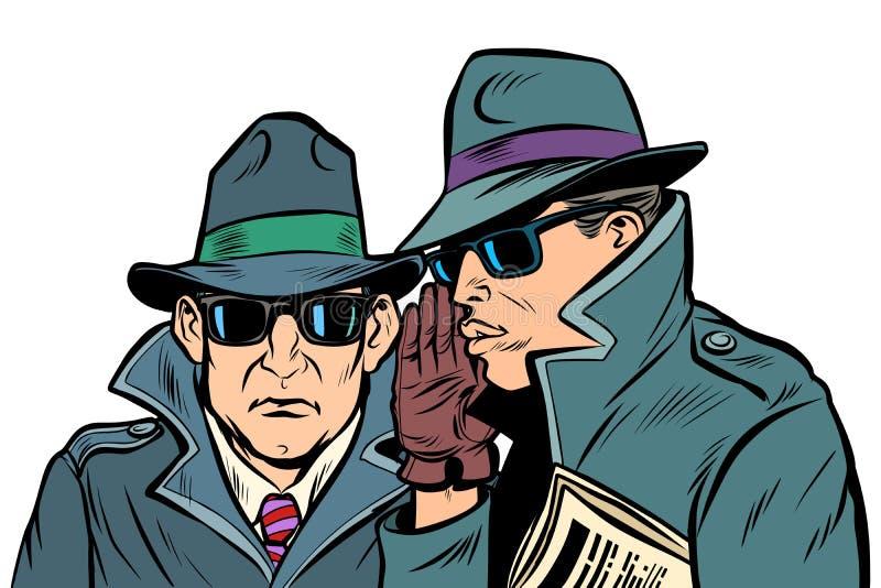 Ψιθύρισμα δύο μυστικό πρακτόρων ελεύθερη απεικόνιση δικαιώματος