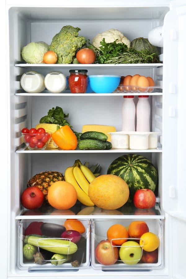 ψυγείο ανοικτό στοκ φωτογραφία