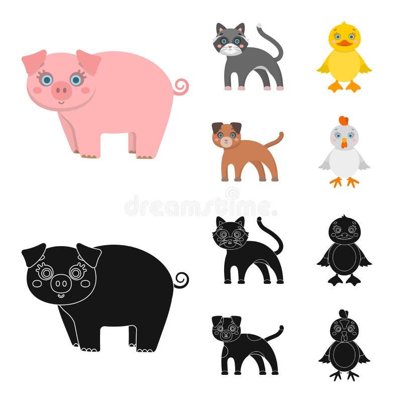 Ψυχαγωγία, αγρόκτημα, κατοικίδια ζώα και άλλο εικονίδιο Ιστού στα κινούμενα σχέδια, μαύρο ύφος Αυγά, παιχνίδι, εικονίδια αναψυχής ελεύθερη απεικόνιση δικαιώματος