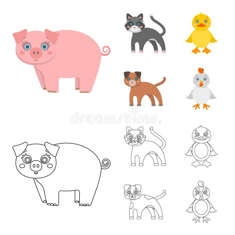 Ψυχαγωγία, αγρόκτημα, κατοικίδια ζώα και άλλο εικονίδιο Ιστού στα κινούμενα σχέδια, ύφος περιλήψεων Αυγά, παιχνίδι, εικονίδια ανα απεικόνιση αποθεμάτων