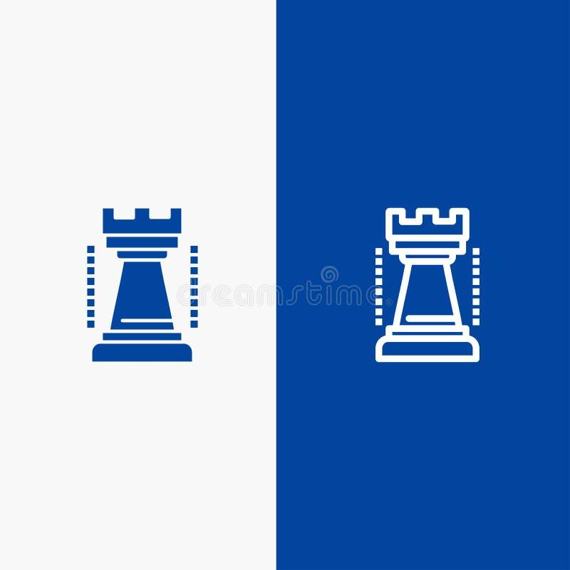 Ψυχαγωγία, παιχνίδια, βασιλιάς, αθλητική γραμμή και στερεό μπλε έμβλημα εικονιδίων Glyph ελεύθερη απεικόνιση δικαιώματος