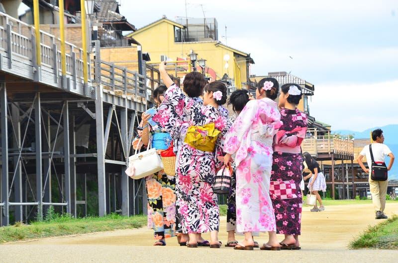 Ψυχρή ζωή Kamogawa στοκ φωτογραφία