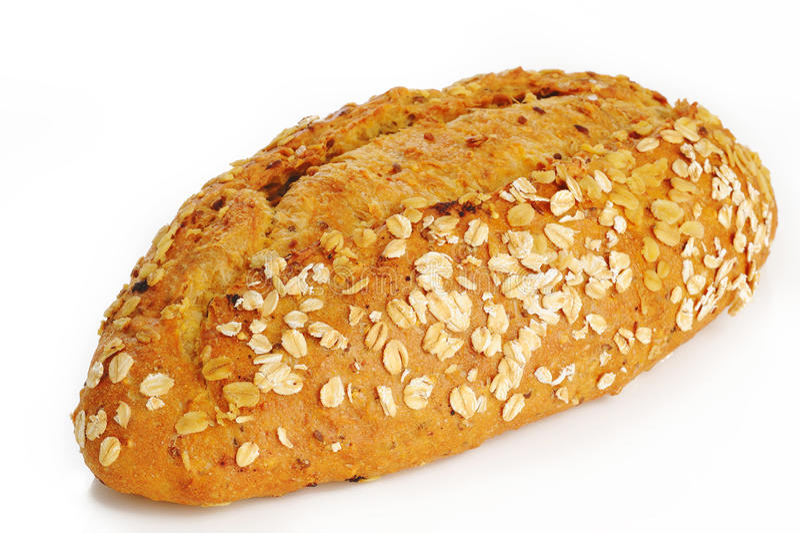 Ψωμί βρωμών στο άσπρο υπόβαθρο στοκ εικόνες με δικαίωμα ελεύθερης χρήσης
