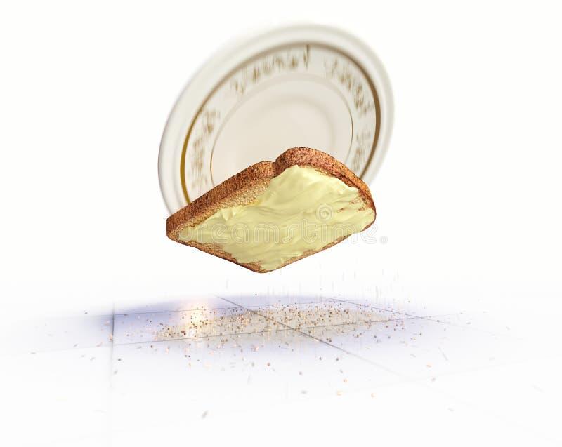 Ψωμί και βούτυρο που αφορούν το υπόβαθρο έννοιας πατωμάτων στοκ φωτογραφίες