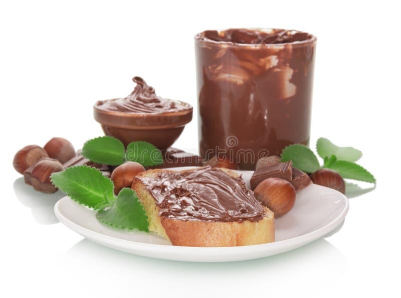 Ψωμί με τη σοκολάτα στοκ εικόνες με δικαίωμα ελεύθερης χρήσης